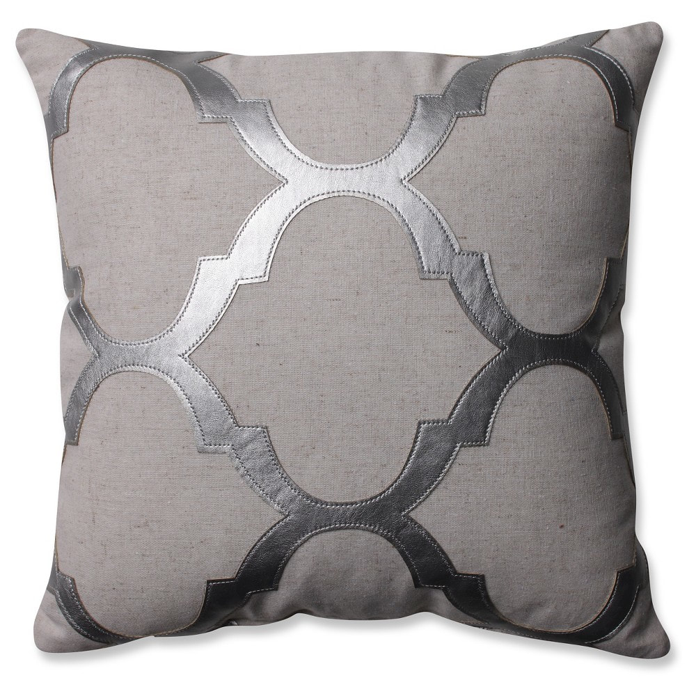 Silver/gray glitz throw pillow