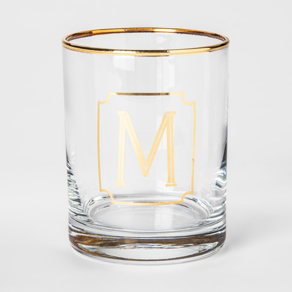 Gold rim glass