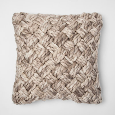 Threshold cream chunky pillow