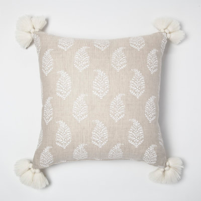 Threshold cream paisley throw pillow