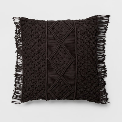Opalhouse macrame black throw pillow